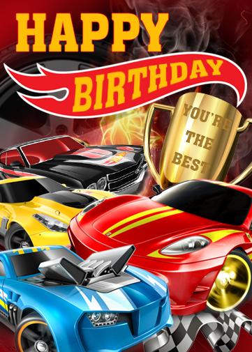 Card Happy Birthday Hot Wheels Peekaboo Kidz Clare