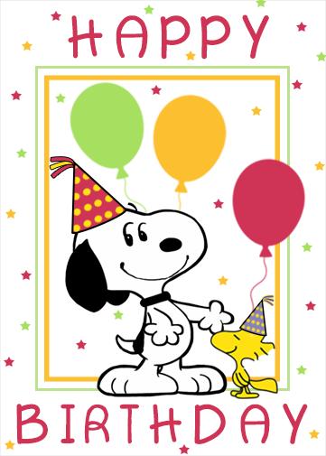 snoopy birthday ecard  crazecards