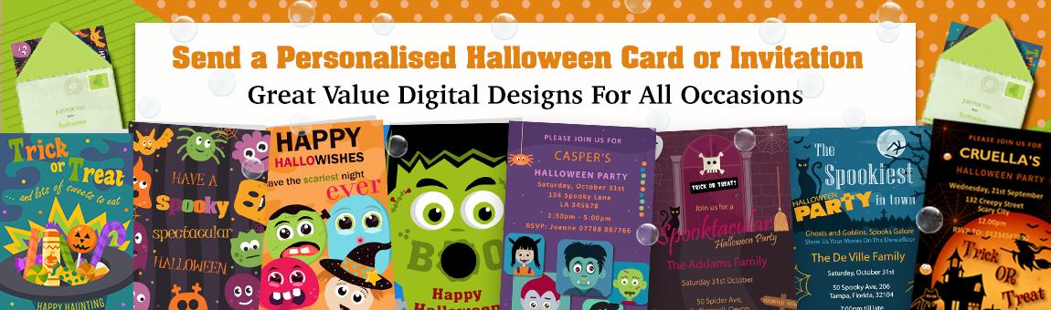 halloween greeting cards, halloween invitations