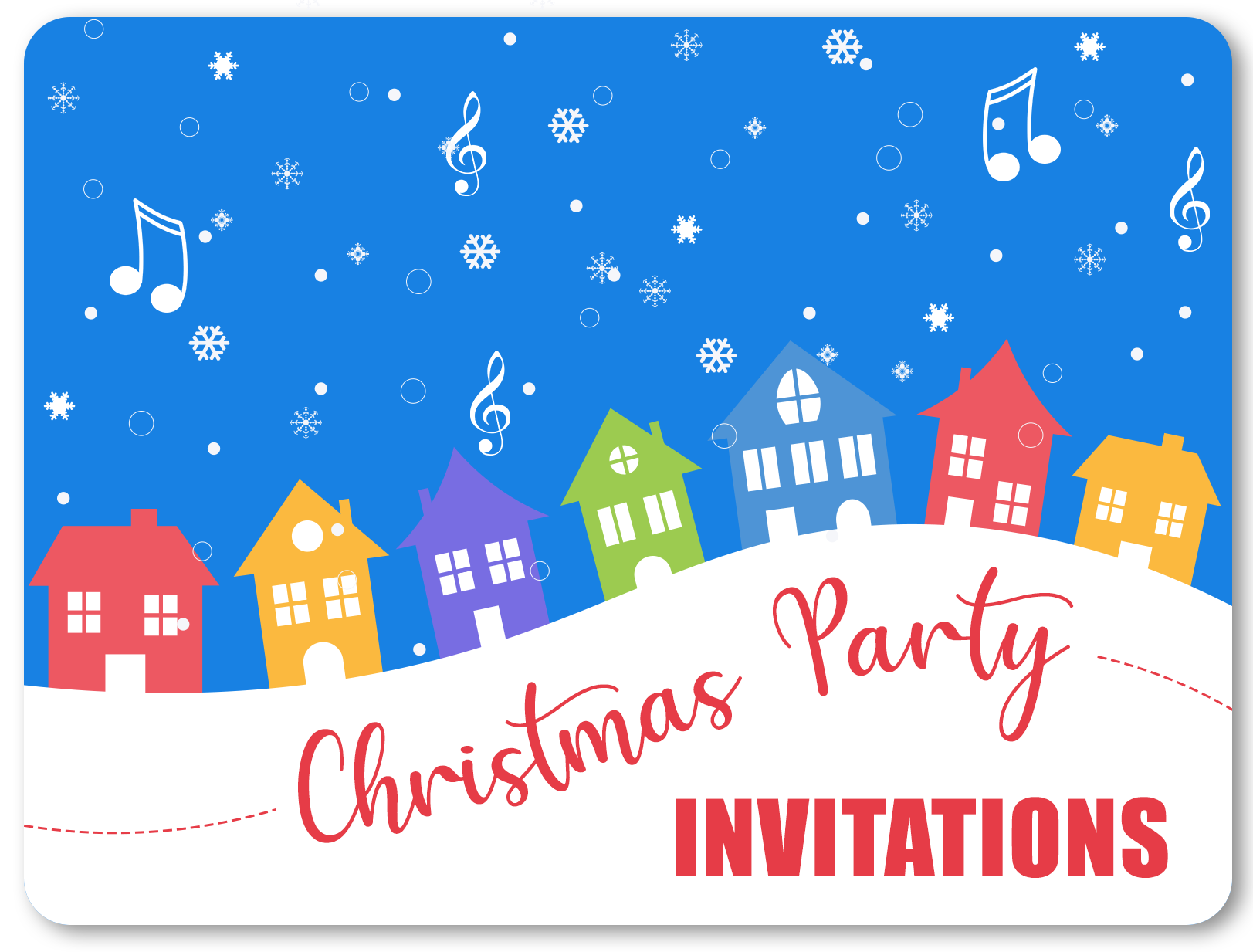 christmas party invitations personalised